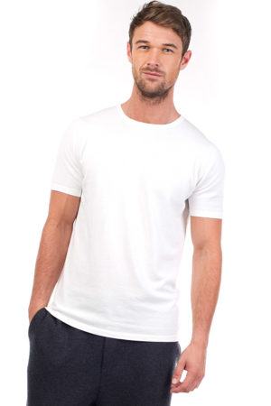 Cotton and cashmere blended t- shirt