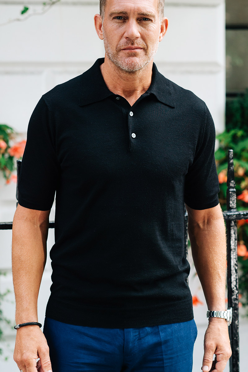 d7d313c88bb4 Shoal Silk Blend Polo Shirt – Black