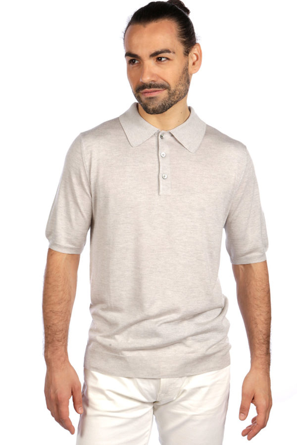 Summer weight mens polo shirt