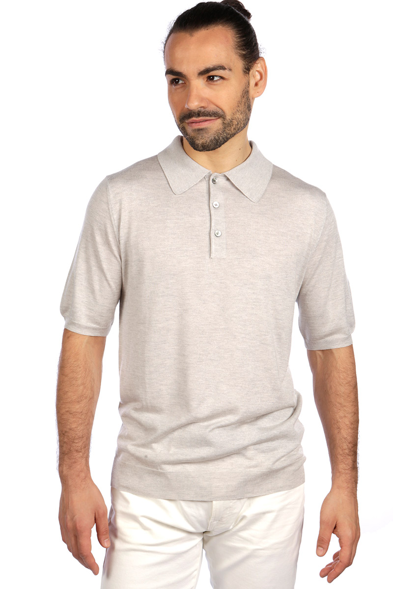 cb555056e569 Silk Blend mens luxury polo shirt