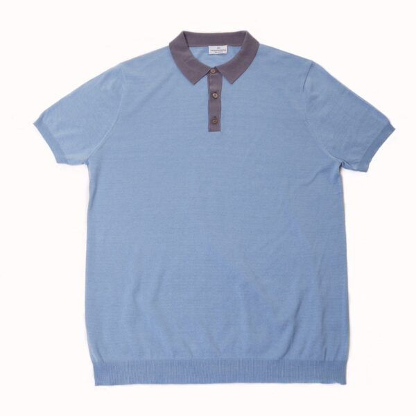 August Polo Shirt Steel Blue