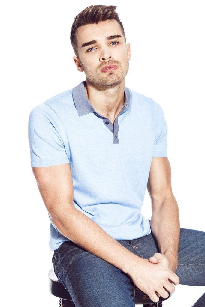 August Polo Shirt Steel Blue
