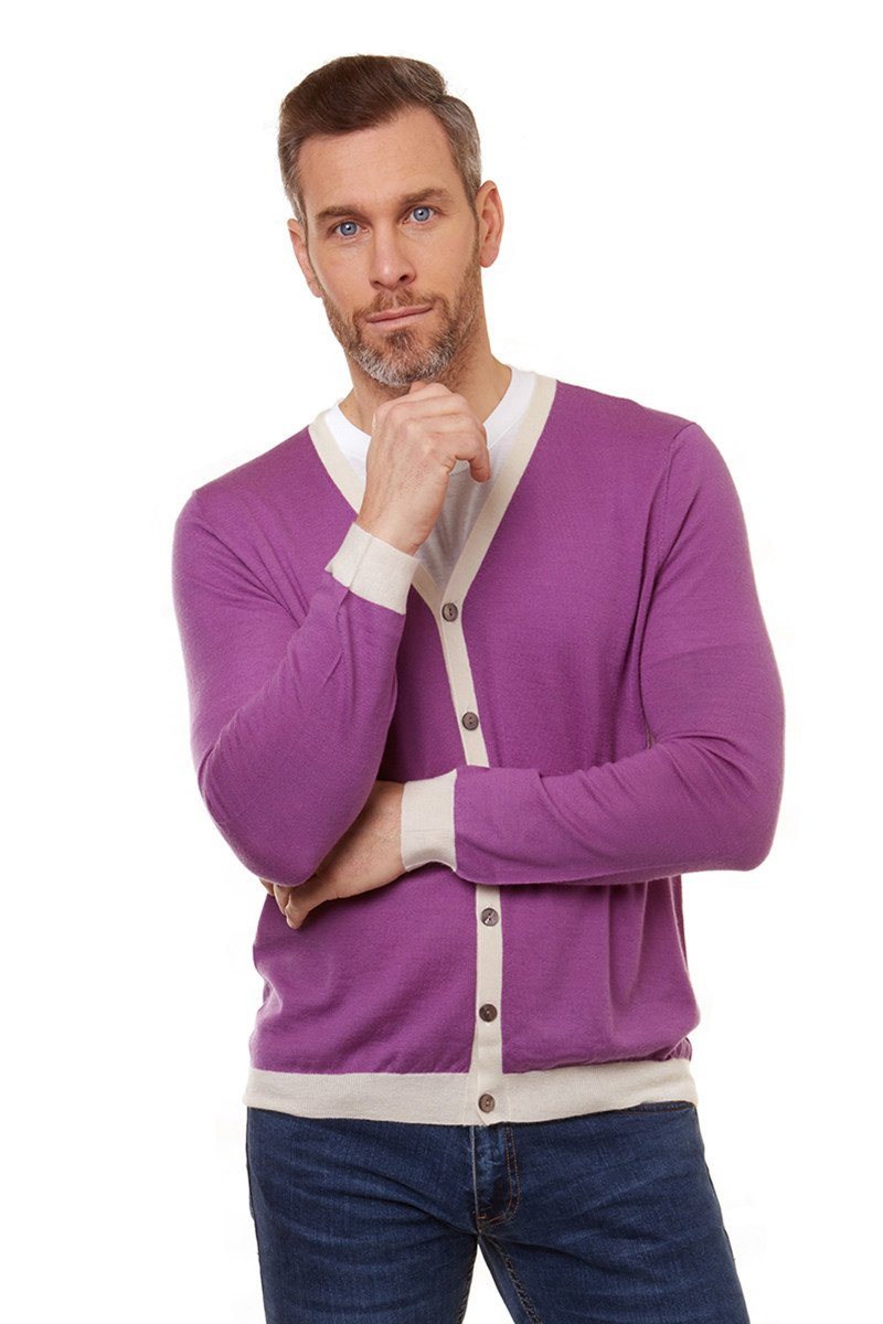 Ocean Cardigan Purple