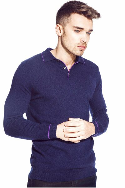 Hastings Long Sleeve Pure Cashmere Polo