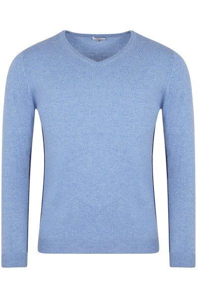 Heath V-Neck Chambray Blue Sweater