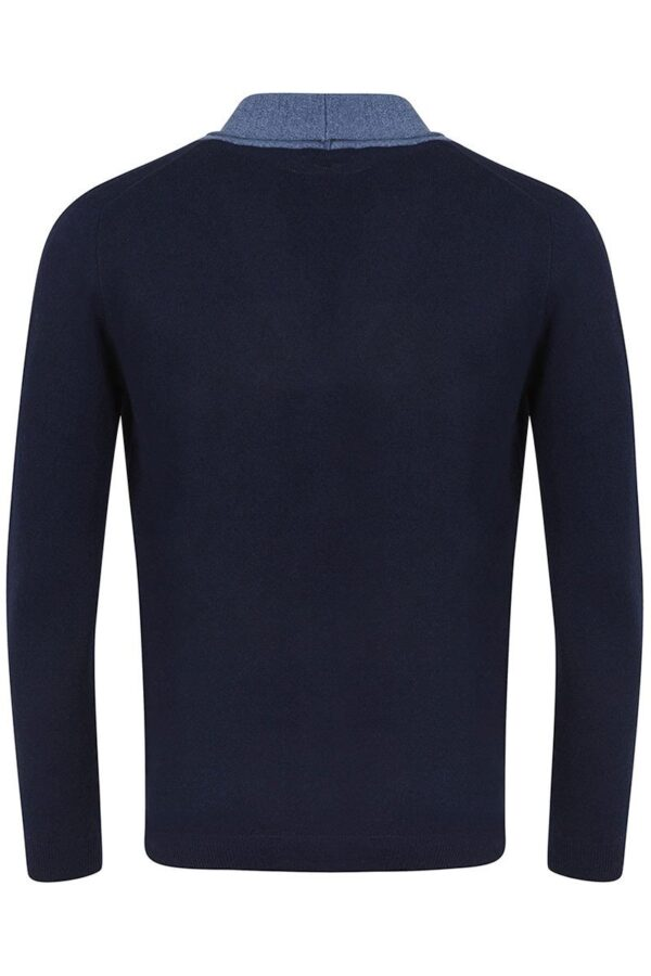 Chester Dark Navy Shawl Neck Cardigan -